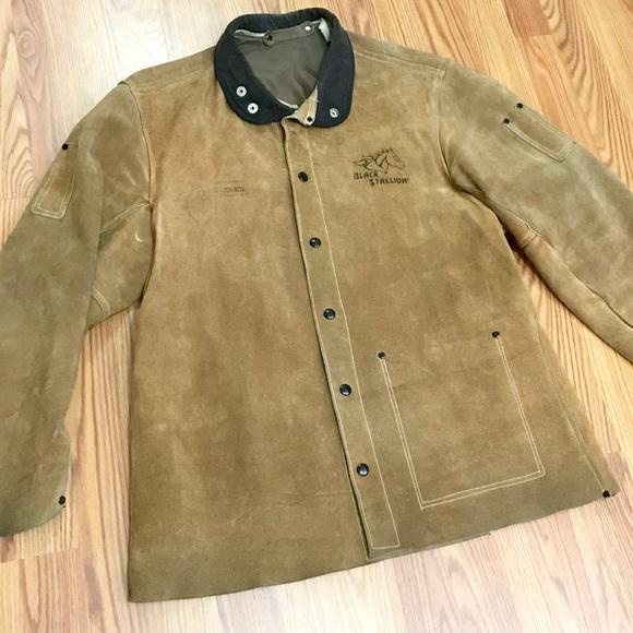 0fc725b8a Vintage Black Stallion Cowhide Welding Jacket